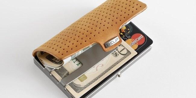 I-Clip Caramel Minimalist Wallet