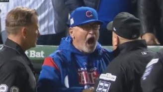 Cubs Manager Joe Maddon Gets Tossed For Cursing Out Umps After Terrible Foul Tip Ruling