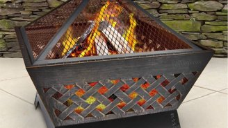 Turn Your Yard Into An All Night Hang With This Awesome Firepit That's Under $60