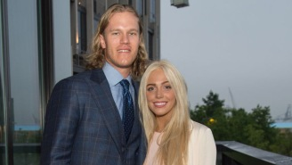 Noah Syndergaard And His Girlfriend Were Engaged In Some Very Weird PDA At The Rangers Game