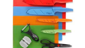 This Colorful Stainless Steel Knife Set Looks Fake But The Cuts Are So Damn Real