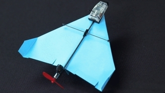 This Motorized Paper Plane Is Controlled By Your Smartphone And Does Incredible Tricks