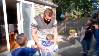 Feel Free To Cry At This Video Of Rob Gronkowski Surprising A Make-A-Wish Kid At His Home