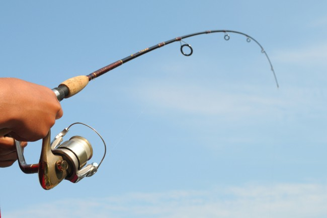 bent rod fishing