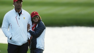 Tiger Woods Was Spotted With A New Lady At The Presidents Cup, And She Was Getting Awfully Cuddly