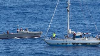 Women And Dogs Lost At Sea For 5 Months Rescued By US Navy Tell Of Sharks Ramming Ruined Boat