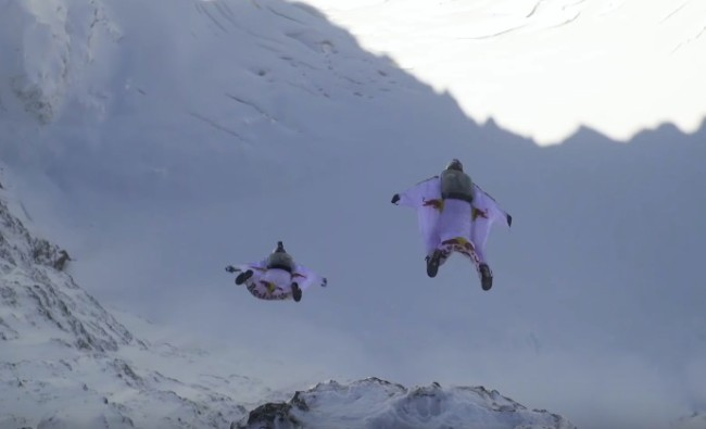 BASE Jump Swiss Alps