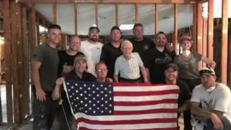 WATCH: WWII Veteran Tears Up When Home Rebuilt By Marcus Luttrell And Friends After Hurricane Harvey