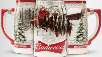 Budweiser's 2017 Annual Holiday Clydesdales Stein Is An Absolute Must Have
