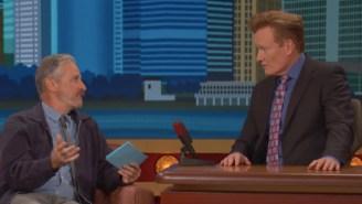 Jon Stewart Gave Conan O'Brien A Comically Weird 'NYC Citizenship Test' And He Passed