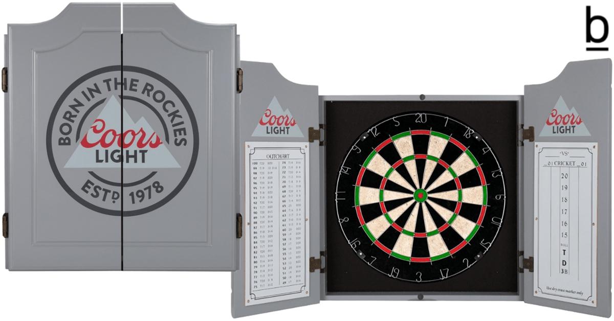 coors light dartboard