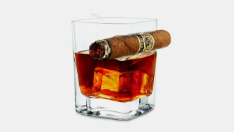 This Cigar Glass Is Perfect For Enjoying Your Two Favorite Hobbies At The Same Time