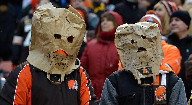 cleveland browns paper bag fans