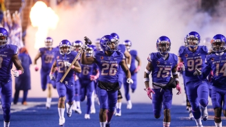 Boise State Scored Three Blocked-Kick Return Touchdowns In The First Half Against Colorado State