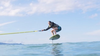 DJ Steve Aoki Learns How To Ride A Hydrofoil Board From Kai Lenny, One Of The Best Surfers Alive