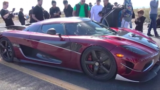 Dashboard Footage Of The World's Fastest Commercial Car Is Terrifyingly Intense