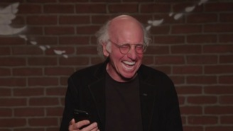 Larry David's 'Mean Tweets' Outtakes Are Amazing, He Cannot Stop Laughing At Savage Tweets About Kimmel
