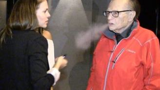 Here's Video Of 84-Year-Old Larry King Vaping And Choking On Cucumber-Flavored Vapors