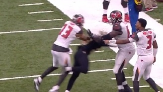 Bucs And Saints Nearly Brawl After Mike Evans Hits Marshon Lattimore With A Vicious Cheap Shot