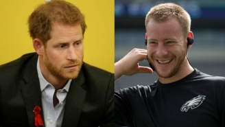 The Eagles Added Fuel To The Theory That Carson Wentz And Prince Harry Are The Same Person
