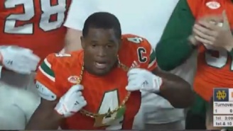 Miami Busted Out The Turnover Chain Three Times Against Notre Dame In The First Half And 'Swagger U' Is Officially Back