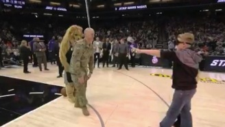 Soldier Returns From Afghanistan And Surprises His Tearful Kids At The Kings Game