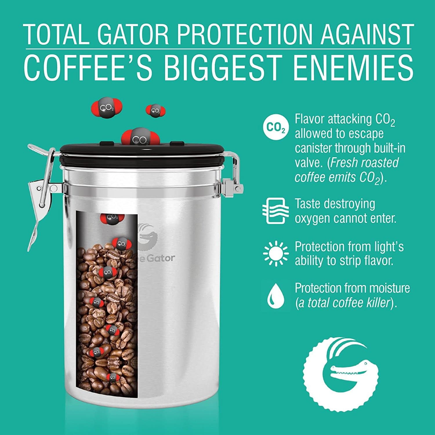 co2 coffee container