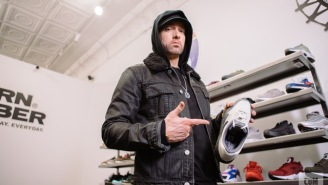 Eminem Goes Sneaker Shopping And Talks About His Air Jordan IV Collaboration Coming Back