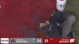 Turf Guy Eric Harlow Saves The Day After Turf Falls Apart In The Middle Of Ohio State-Wisconsin Big 10 Conference Championship Game