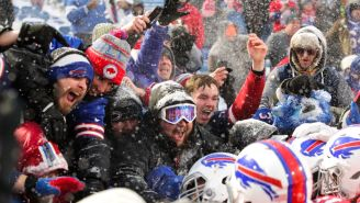 Bills Fan Attempts To Dive Through A Table And Fails Miserably