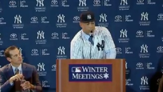 Giancarlo Stanton Fires Shots At The Marlins During His First Press Conference As A Member Of The Yankees