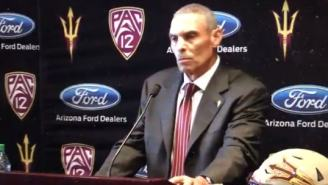 Herm Edwards Introduced As Arizona State Head Coach And He May Not Know What Their Mascot Is