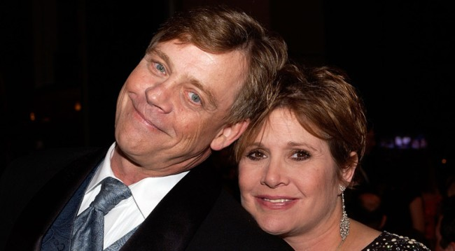 mark hamill hooked up carrie fisher