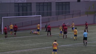 I Can't Stop Laughing At This Hilariously Painful Own Goal During An Icelandic Soccer Game