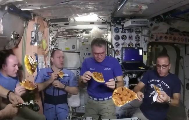 pizza night International Space Station