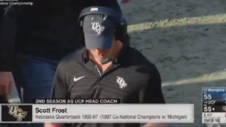 ESPN Announcer Makes Extremely Awkward Mistake While Breaking Scott Frost News On-Air