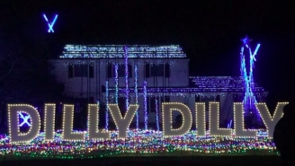 OF COURSE A House In New Jersey Set Up The Ultimate Dilly Dilly-Themed Christmas Display