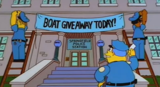 simpsons boat giveaway