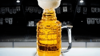 Drink Like A Champion With This Stanley Cup Beer Glass