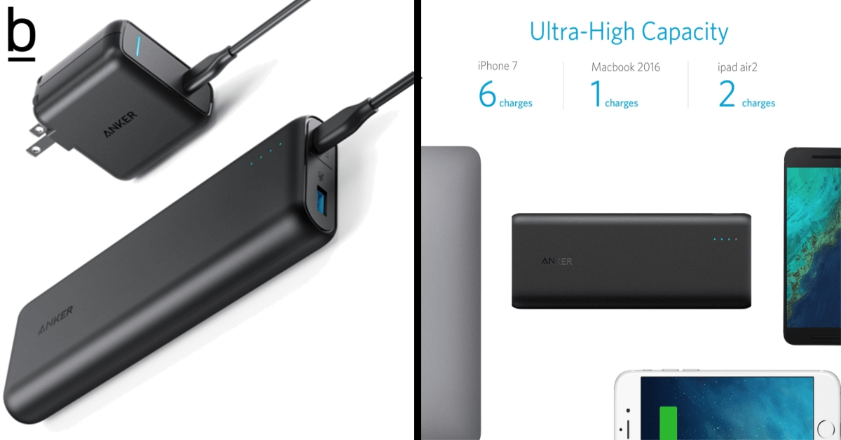 anker portable charger powercore