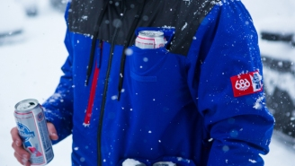 Pabst Blue Ribbon Just Made The Ultimate Ski Jacket And It Stashes Many, Many Beers