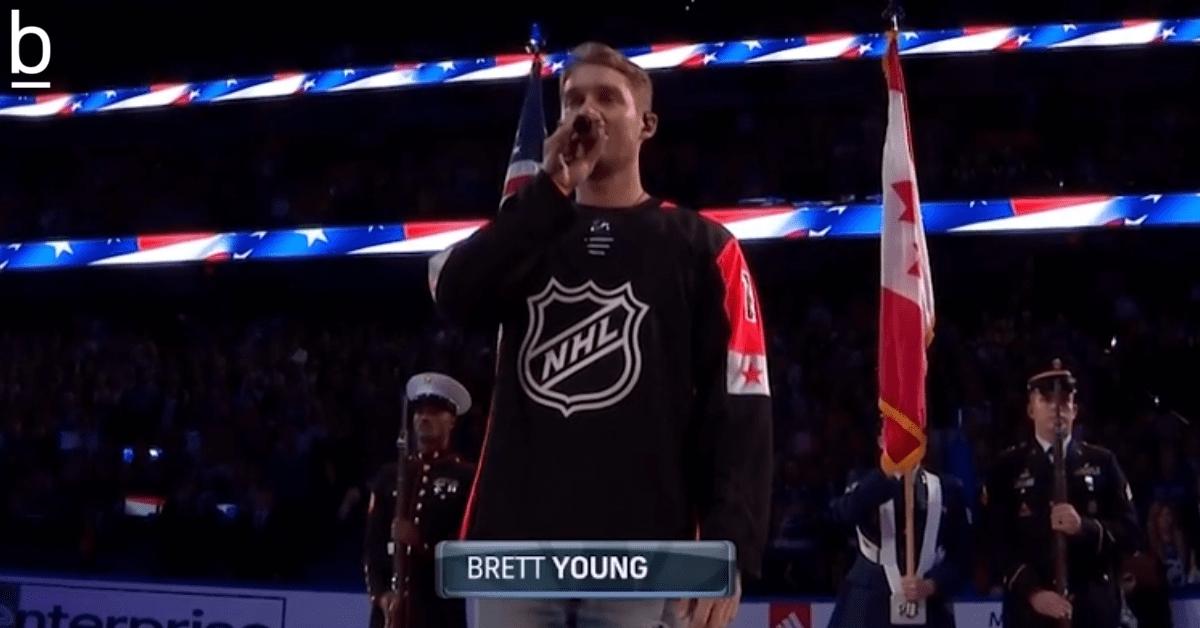 brett young anthem nhl
