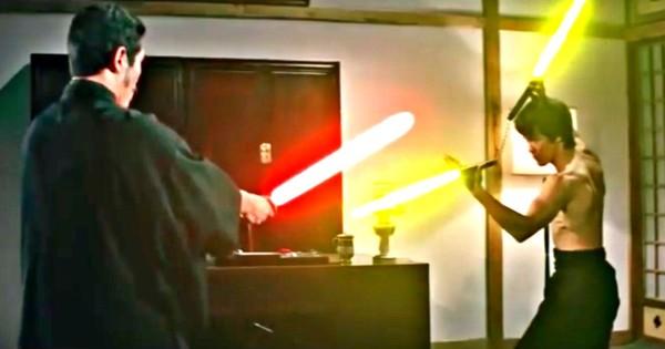 Bruce Lee Lightsaber Video Star Wars