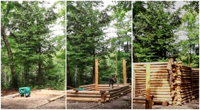 building log cabin from scratch