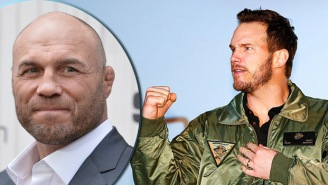 Check Out Chris Pratt Holding His Own As He Grapples With Six-Time UFC Champion Randy Couture