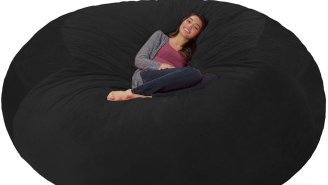 The Internet Is Obsessed With This Giant, Eight-Foot Memory Foam Bean Bag Chair