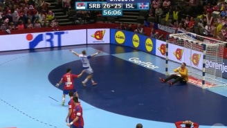 Take A Seat Because This Gloriously Athletic Handball Highlight Is About To Knock You On Your Ass