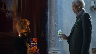 Morgan Freeman Versus Peter Dinklage Rap Battle In Joint Doritos And Mountain Dew Super Bowl Ad