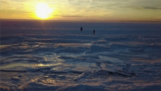 MUST SEE: Stunning Footage Of The Frozen Ocean At A New England Beach