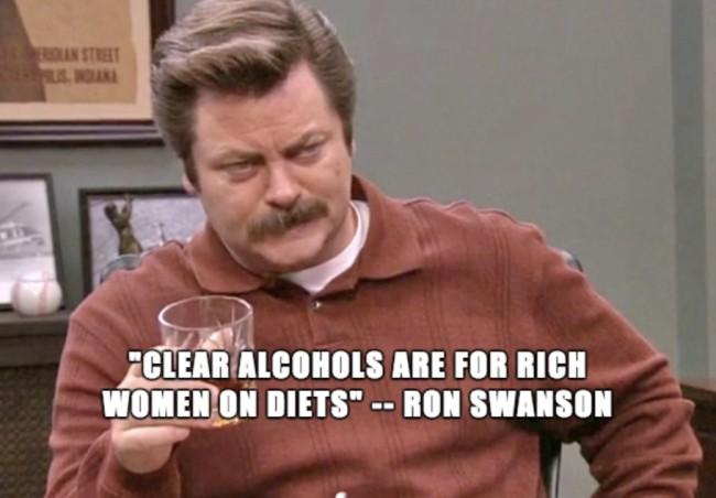 funniest memes 2018, ron swanson clear alcohols